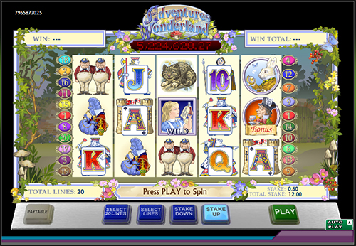 online slot alice's wonderland im 888 casino