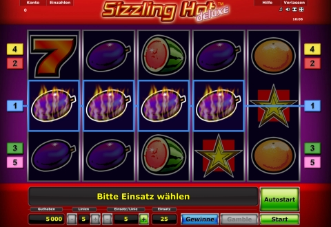 start online casino sizzling hot deluxe